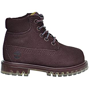 Timberland 6 Inch TPU Outsole Waterproof Suede Premium Toddler Boots Dark Red tb0a1blf (11 M US)