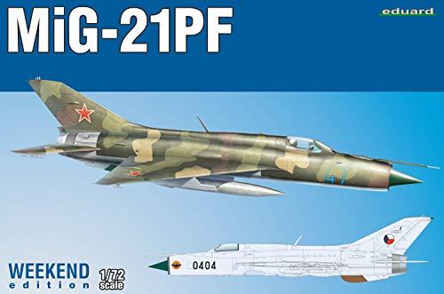 エデュアルド 1/72 ウィークエンドエディション ソ連空軍 MiG-21PF プラモデル EDU7455
