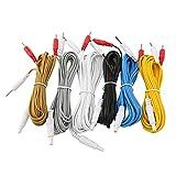 Electrodos, Cables De Plomo, Cables De TENS, Raspado, Masaje, Cables De Repuesto, 6 Piezas Para Adelgazar, Masajeador Para Máquina De Terapia Digital