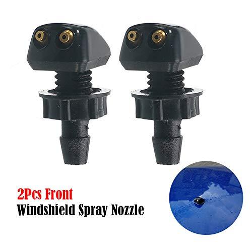 SpeeVech Kit universal de limpieza por pulverización de boquilla de limpiaparabrisas con limpiaparabrisas delantero de 2 piezas