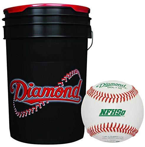 Rods Diamond Sports Black Bucket - (3 Dozen) DOL-1 HS NFHS/NOCSAE High School Baseball