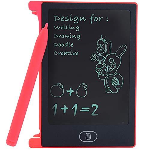 Dongwall Malerei Spielzeug 4.4 Zoll LCD-Schreibtafel Kinder Schreibtafel Malerei Grafikkarten Geschenk Kindern kreative Phantasie zeichnen (Kleur : Roze)