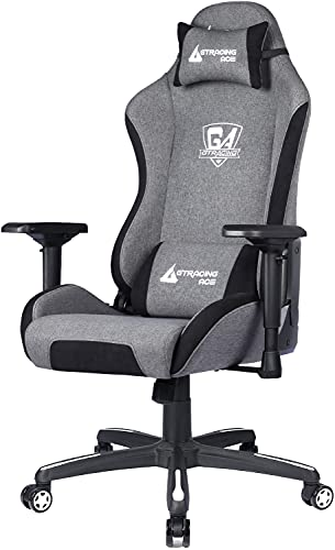 GTRACING Gaming Chair,Racing Office Computer Chair,Home Office Chair,High Back Gaming Desk Chair with 4D Adjustable Arms,Heavy Duty Metal Base,Swivels Reclines Big and Tall (Gray)