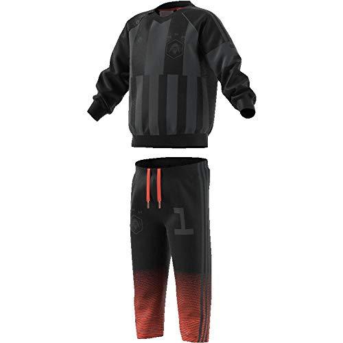 adidas Kinder Star Wars Jogginganzug Trainingsanzug, Black/Carbon, 80