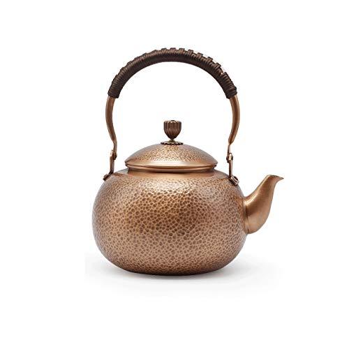 JEONSWOD El crisol de Cobre Caldera Tetera de Cobre Hecho a Mano Puro Cobre Engrosamiento de la Salud Pot Retro del Regalo del té Juego de té