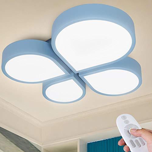 Bakaji Plafoniera Cameretta Bambini Chip 72 LED ad Alta Luminosità 28W 2800 Lumen Luce Dimmerabile Colorazione Regolabile Lampada Lampadario Soffitto in Metallo con Telecomando (Nuvola)