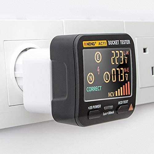 Buding608 Stecker Tester Sockeltester Anschluss-Prüfstecker Verkabelungs Tester Diagnose-Stecker Kontrolle Von Korrekten Verdrahtungen In Schutzkontaktsteckdosen – Stromkreis-Prüfgerät