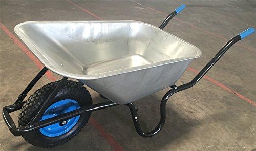 TIREX Schubkarre 100L 200kg Luftrad Transport Garten Karre Schiebkarre Blau