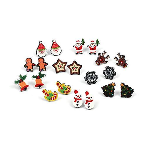 JUNGEN Weihnachten Ohrstecker Damen Ohrhänger Weihnachtsschmuck Set