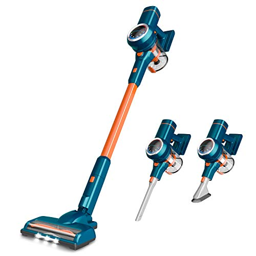 ORFELD Cordless Vacuum Cleaner, 20000Pa Powerful Suction Stick Vacuum 40 mins Runtime, Smart Sensor Tech, 3 Cleaning Mode, 5 in 1 Ultra-Quiet Handheld Vac Self-Standing for Hard Floor Car Pet Hair