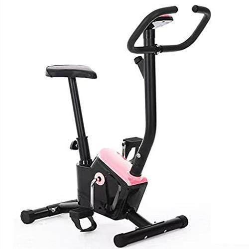 Bicicleta Estática De Oficina Bicicleta Estacionaria con Carga 220 Ibs Bicicleta De Ciclismo Interior Silenciosa con Cómodo Cojín De Asiento para Entrenamiento Cardiovascular En Casa (Color : Pink)