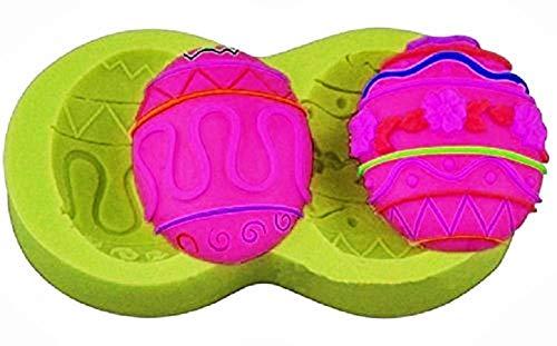 KIRALOVE Stampo in Silicone a Forma di Uova di Pasqua - Semi ovali - Sapone - Resina - Gesso - DIY - Fai da Te - Hobby - calchi - Stampino per utilizzo Artigianale
