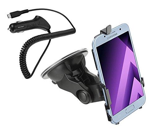 yayago KFZ Halterung 360 Grad drehbar für Samsung Galaxy A5 2017 - Halter AutoHalterung Inklusive eines Typ-C Kfz-Ladekabels 2 Ampere für Samsung Galaxy A5 2017