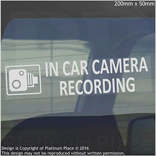 2x in Car Camera recording-200mm X 50mm-internal Fenster stickers-cctv sign-vehicle, Van, LKW, LKW, Taxi, Bus, Mini Cab, minicab-go Pro, Dashcam
