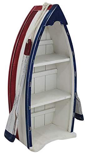 Shabby - Estantería en forma de barco con remo (madera pintada)