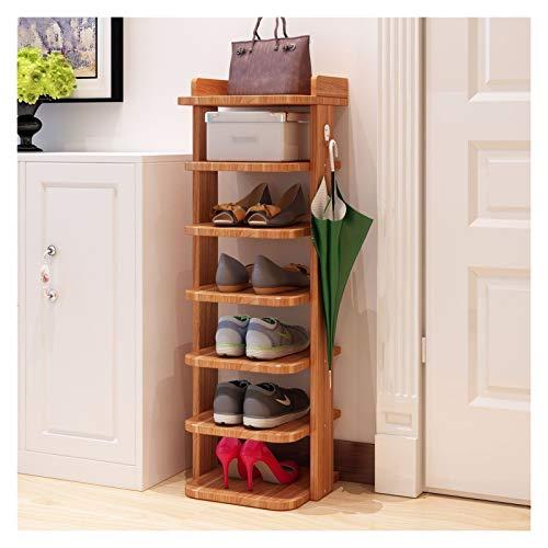 Sencillez Bastidor de zapatos de madera vertical detrás de las zapatillas de puertas Almacenamiento Estante de almacenamiento Espacio ahorro de calzado Organizador de zapatos Rack Home Hallway Muebles