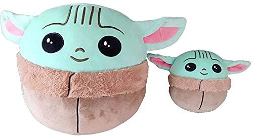 MILAOSHU Star Wars Juguete de Felpa Juguete de Peluche bebé Yoda Figura de Peluche Anime Baby Yoda Suave Lindo Regalo para niños-UN