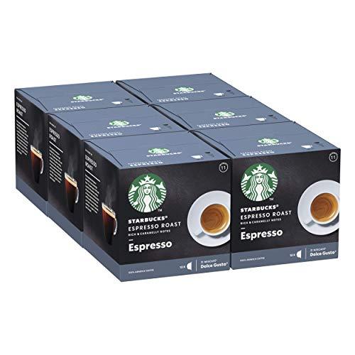 STARBUCKS Espresso Dark Roast De Nescafe Dolce Gusto Cápsulas De Café De Tostado Intenso 6 X Caja De 12Unidades