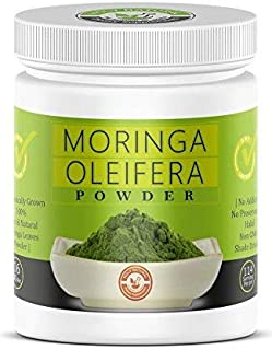 Moringa Leaves Powder- 16 Oz, 100% Pure & Natural , RAW, GREENISH LIKE LEAVES, NO PRESERVATIVE, NON GMO, Organically Grown