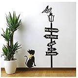 Etiqueta De La Pared Stickers Classic Love Cat Bird Vinyl Wallpaper Furniture Decorative Living Room Salto De Los Niños Calcomanías 50X75cm