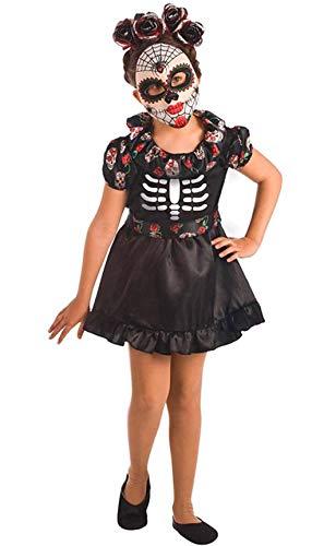 El Rey del Carnaval Disfraz de Catrina Negra para niña