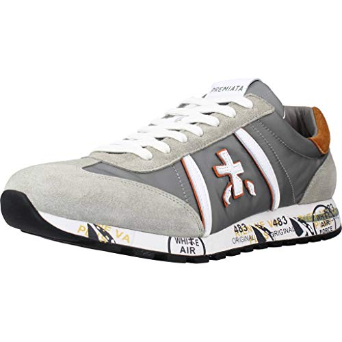Sneakers Hombres PREMIATA Lucy 5152 Gamuza Tejido Gris