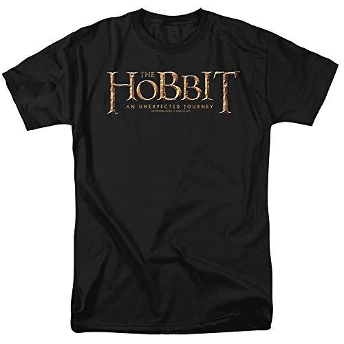 The Hobbit Logo Unisex Adult T Shirt for Men and Women, Black, 4X-Large