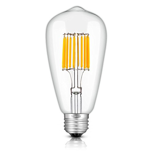 TAMAYKIM LED電球 フィラメント 10W E26口金 電球色(2700K) 白熱電球100W形相当 ST64 レトロエジソンバルブ 一般電球・全方向タイプ 調光器非対応