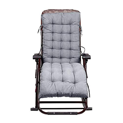 tonywu Soft Recliner Chair Cushion, Thicken Foldable Rocking Chair Cushion Long Chair Couch Seat Cushion Pads, For Patio Garden Bench Or Swing 40x110cm gray
