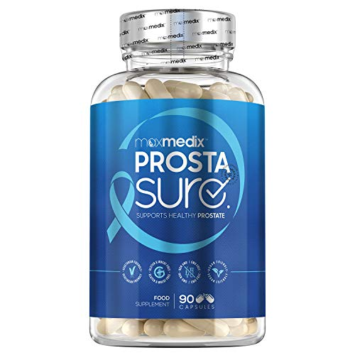 MaxMedix ProstaSure Prostata Kapseln - Mit Sägepalme, Beta Sitosterol, Kürbiskern, Vitamin D, Zink, & Selen - 90 Kapseln - Natürlicher Prostata Komplex