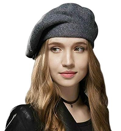 Superora Boinas Mujer Francesa Lana Vintage Sombreros de Mujer Fiesta Invierno Clásico Gorro Sombrero Mujeres Caliente Beret Francés Beanie Cozy