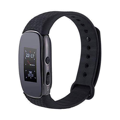 Wiiguda@16G Digital Dictaphone Voice Recorder Armband, USB, Wiederaufladbares Diktiergerät, Zeit-Anzeiger, MP3 Rekorder für Referat Besprechung Interview Unterricht