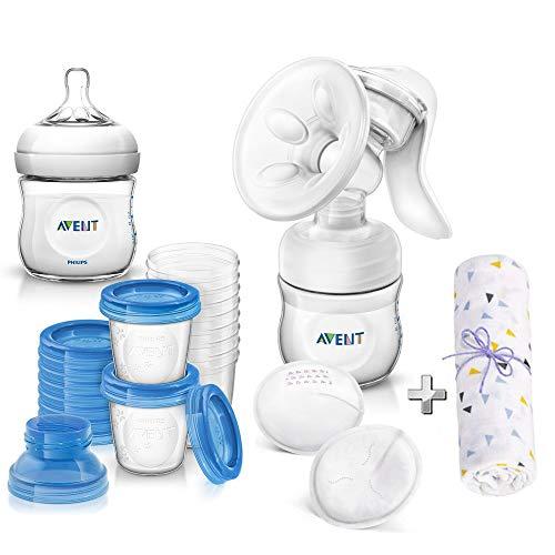 Philips AVENT Naturnah Starter-Set Stillen inkl. Aufbewahrungssystem für Muttermilch // ab Geburt