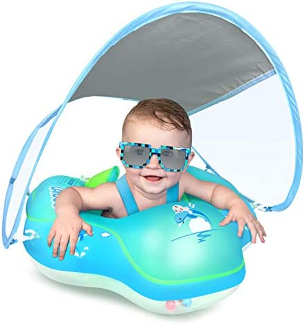 LAYCOL Baby Swimming Float with UPF50 Sun Canopy Baby Floats for Pool No Flip Overbaby Pool product image