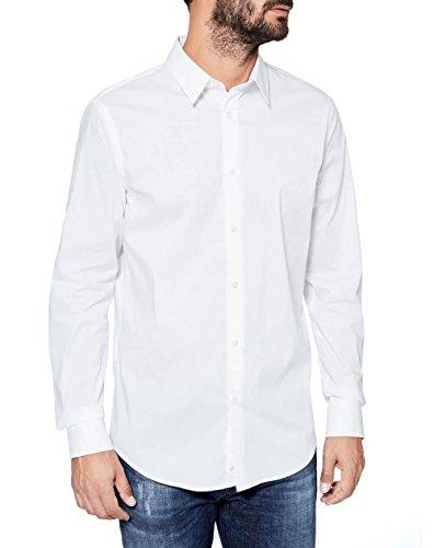 Sisley Shirt, Camicia formale Uomo, Bianco (White 101), 44 (Talla produttore: 44)