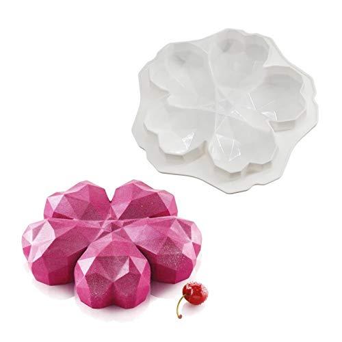 Molde De Silicona De Origami Sakura para Hornear Flores, Herramientas De Decoración De Pasteles, Molde para Helado De Chocolate, Moldes para Postres Y Mousse