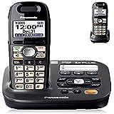 Panasonic KX-TG6592T DECT 6.0 Amplified Handset Volume Talking Caller ID Eco Mode Call Block Expandable to 6 Handset Cordless Phone-2 Handset(Renewed)