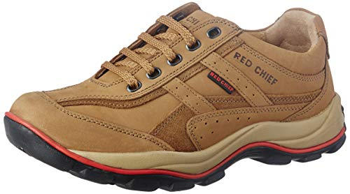 Redchief Men's Rust Leather Trekking and Hiking Footwear Shoes - 7 UK (RC2020 022)