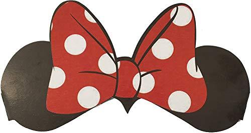 Minnie Mouse 6 x Ohren + Schleife ┃ für Kinder und Erwachsene ┃ Disney ┃ Werden Sie zur Minni Maus ✔