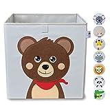 wonneklein – Caja de Almacenamiento para Niños Gris – Cubo para Juguetes Extra Fuerte, Para Habitaciones,...