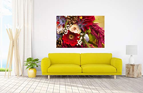DesFoli Blumenstrauß Pflanze Blumen Poster Kunstdruck Fotoposter P2571 Größe 30 cm x 20 cm