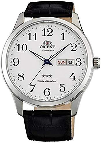Orient Reloj Analógico para Unisex Adultos de Automático con Correa en Cuero FAB0B004W9