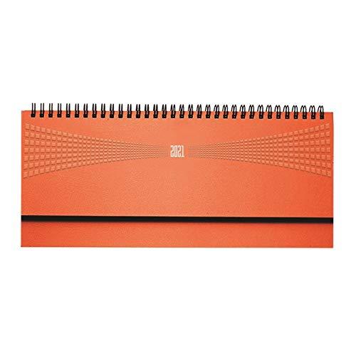 takestop Planning da Tavolo Agenda 2021 Arancione Arancio SETTIMANALE Spirale DIARIO 30x15 CM DIARIO Blocco Notes Copertina Rigida