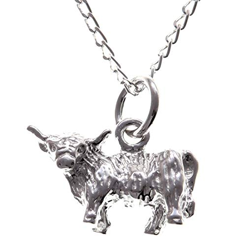 Sterling Silver Highland Cow Pendant