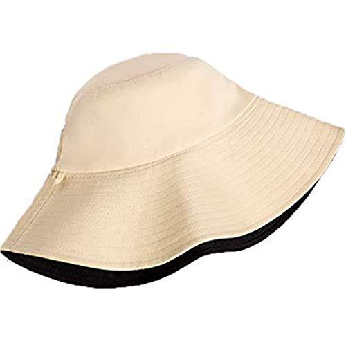 HYwot pescador sombrero mujer marea verano salvaje japonés doble cara sombrero de viaje gran sol sombrero visera