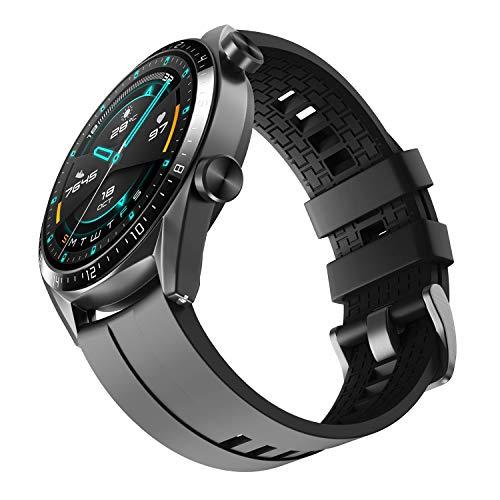 NotoCity Armband für Huawei Watch GT 2 (46 mm)/Huawei Watch GT/Huawei Watch GT 2e/Huawei Watch GT 2 pro/Galaxy Watch 3(45mm), 22mm Silikon Quick-Fit Ersatz Armbänder