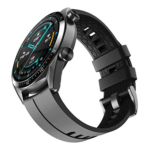 NotoCity Armband für Huawei Watch GT 2 (46 mm)/Huawei Watch GT/Huawei Watch GT 2e/Galaxy Watch 3(45mm), 22mm Silikon Quick-Fit Ersatz Armbänder