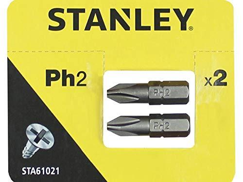 Stanley STA61021-XJ 2 puntas Philips Ph2 25mm, Blanco, Estandar