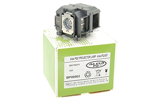 Alda PQ-Premium, lámpara Beamer / lámpara de Repuesto Compatible con EPSON EB-X11, EB-W12, EB-X12, EB-S02, EH-TW400 Proyectores, lámpara con Carcasa