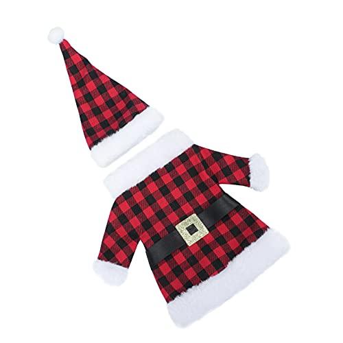 ABOOFAN 2 Juegos de Cubierta de Botella de Vino de Navidad Y Rojo Soporte de Champán Botella Vestido Bolsa Bolsas para La Decoración de La Boda del Comedor de La Fiesta de Navidad